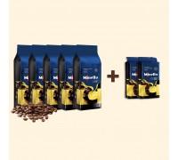Набір Кави CREMA ТМ Minelly 5кг в зернах і 500г меленої | Акція 5+2