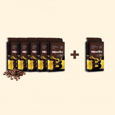 Набір з 6 упаковок меленої кави BRUNO 250 г   Акція 5+1