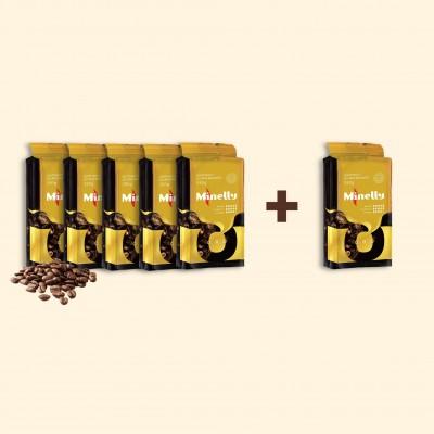 Набір з 6 упаковок меленої кави ORO 250 г   Акція 5+1