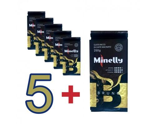 Набор из 6 упаковок Молотого кофе BRUNO 250 г | Акция 5+1