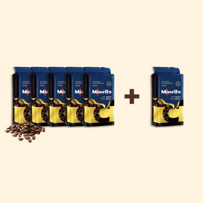 Набір з 6 упаковок меленої кави CREMA 250 г   Акція 5+1