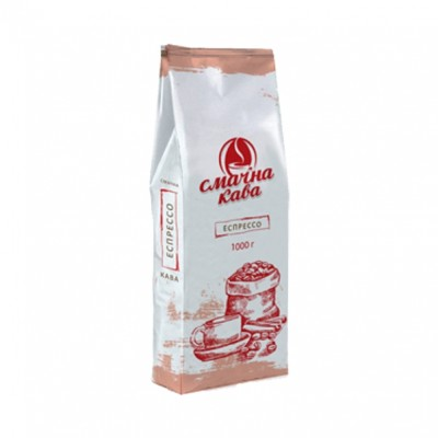 """Кава в зернах Еспрессо, """"Смачна кава"""" ТМ, 1 кг"""