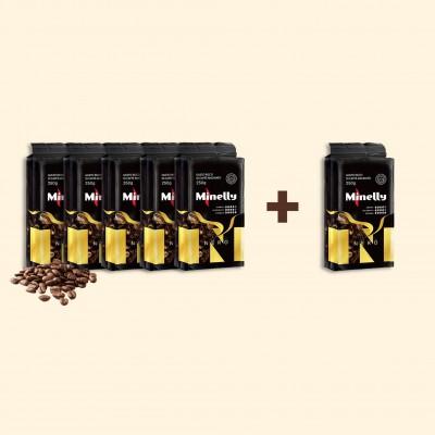 Набір з 6 упаковок меленої кави NERO 250 г   Акція 5+1